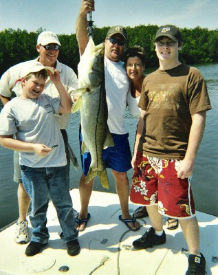 family fishing in Tampa bay