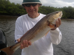 tampa fishing charters - nice fish but hat got to go